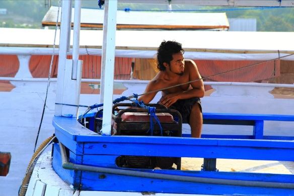Boatman in Labuan Bajo.